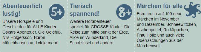 Kostenlose Hörspiele für Kinder bei Ohrka.de