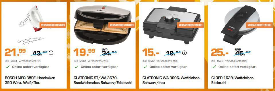 Saturn Osterbäckerei   günstige Back Haushaltsgeräte   z.B. RUSSELL HOBBS Inspire Toaster ab 30€ (statt 48€)