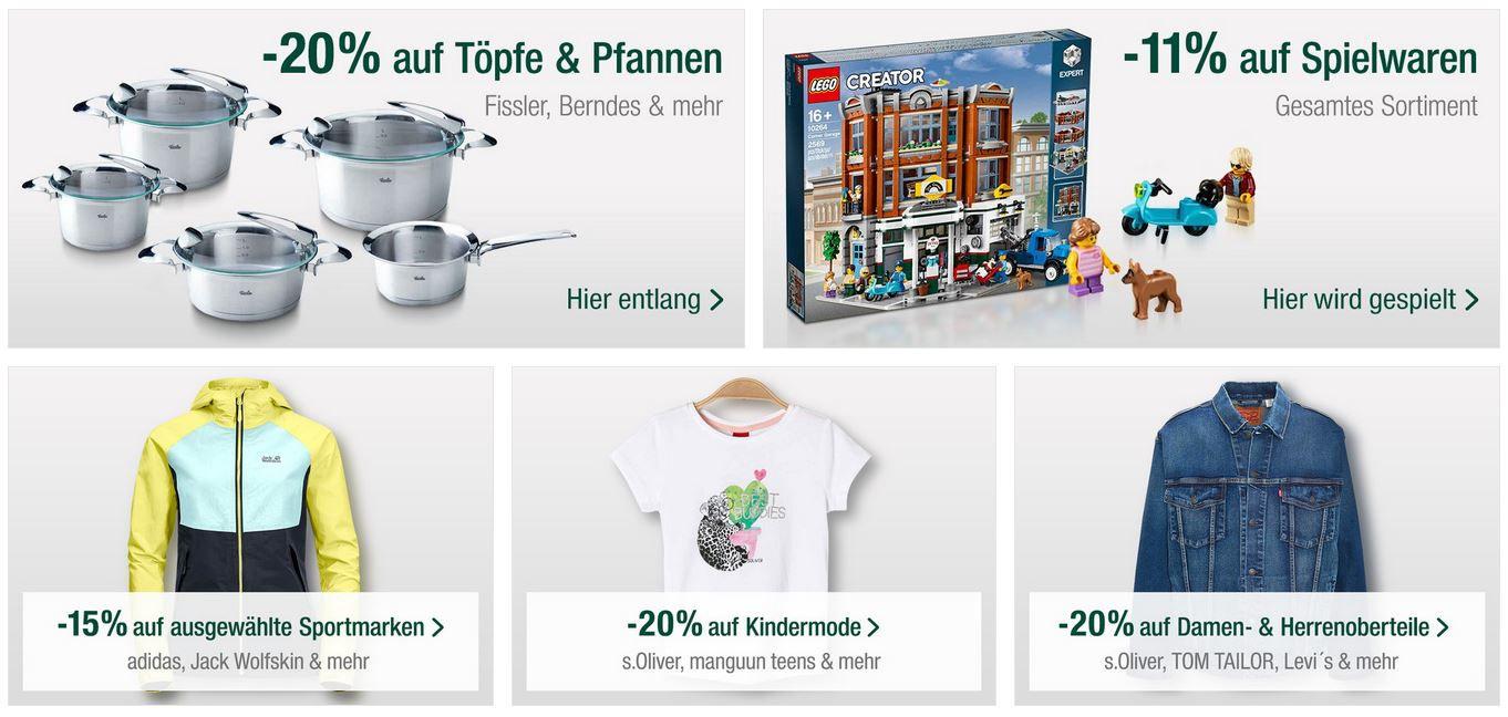 Galeria Kaufhof Oster Angebote: z.B. 20 %Rabatt auf Töpfe & Pfannen von Fissler, Berndes & mehr
