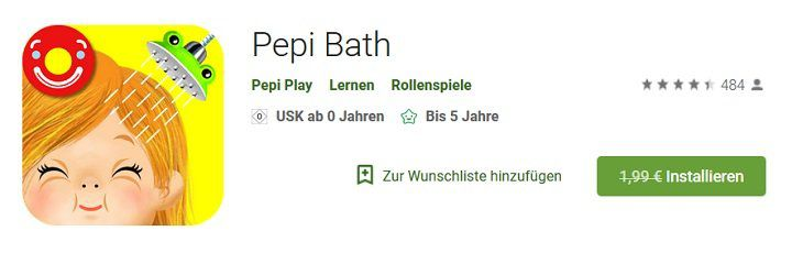Android + iOS: Pepi Bath kostenlos (statt ab ca. 2€)
