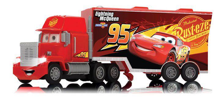 Schuco RC Cars 3 Turbo Mack Truck (89025) mit Turbogang und abnehmbaren Anhänger für 40,99€ (statt 45€)