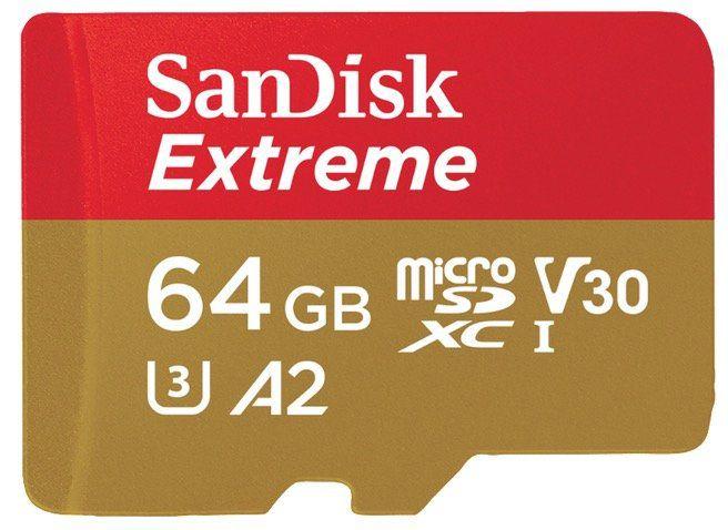 SANDISK Extreme Micro SD Speicherkarte 64GB für 13€ (statt 17€)