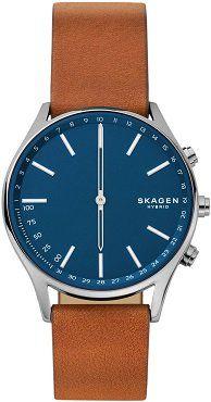 SKAGEN Holst Smartwatch mit Echtleder für 144€ (statt 163€)