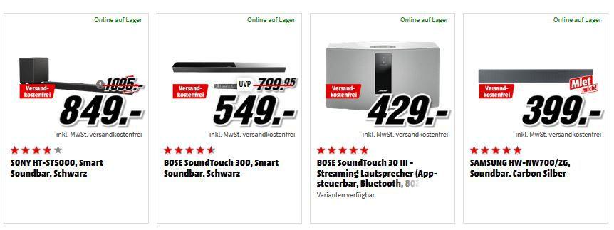 Media Markt Audio & TV Sale: z.B. LG OK99 Bluetooth Lautsprecher für 444€ (statt 519€)