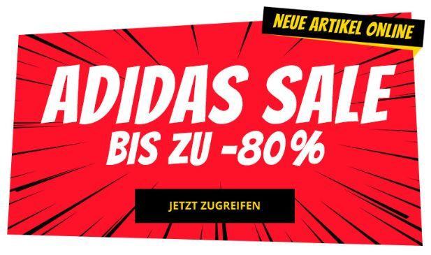 adidas Sale mit bis zu 80% Rabatt ab 0,99€ bei SportSpar   Shirts ab 6,99€
