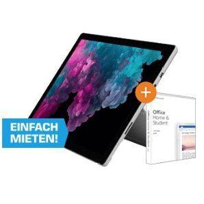 Microsoft Surface Pro 6 (i5, 8GB, 128GB SSD) + Office 2019 + Type Cover Black für 849,99€ (statt 963€)