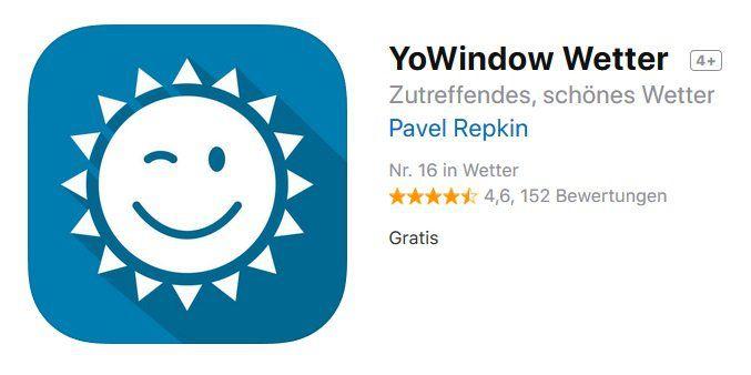 iOS: Wetter App YoWindow Wetter gratis (statt 3,49€)