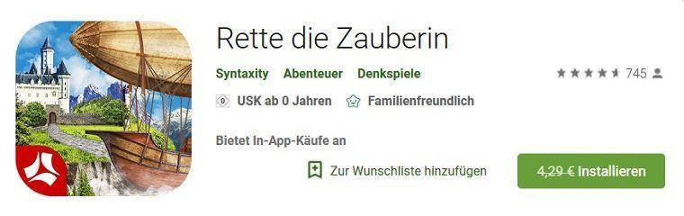 Android: Rescue the Enchanter kostenlos (statt 4,29€)