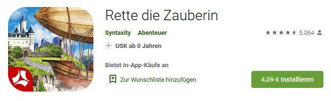 Wieder da! Android: Rette die Zauberin kostenlos (statt 4,29€)