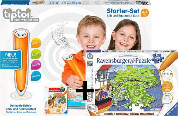 Ravensburger tiptoi Starter Set Stift & Bauernhof Buch + Puzzeln, Entdecken, Erleben: Deutschland ab 39€ (statt 52€)