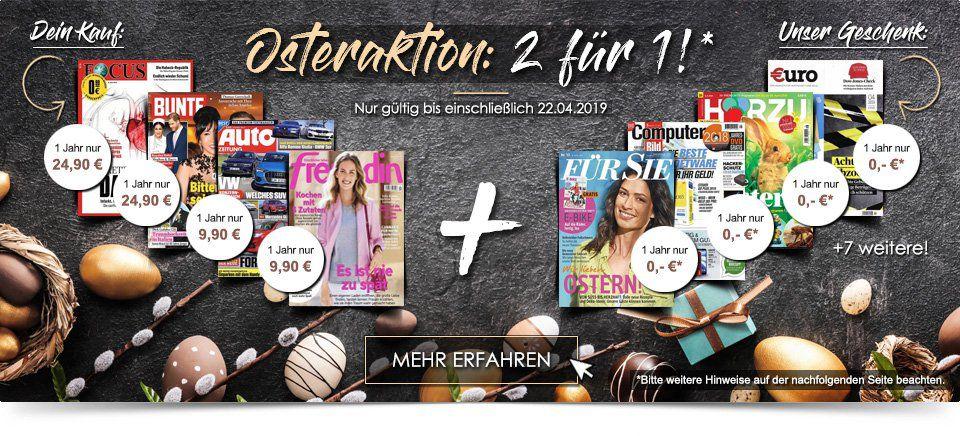 Knaller 🔥 Zeitschriften Jahresabo wählen + weiteres Jahresabo GESCHENKT dazu