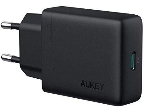 Aukey PA Y21   30W Schnellladenetzteil für 25,49€ (statt 34€)