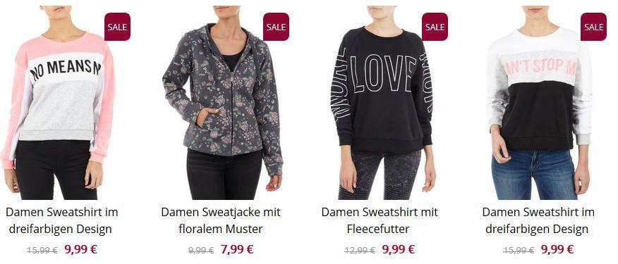 Takko: 50% Extra Rabatt auf bereits reduzierte Langarmshirts, Sweatjacken & Sweatshirts