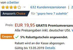 50 tlg. Zubehör Set für ActionCams für 6,98€   Prime