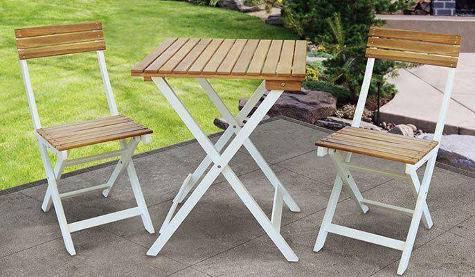 Gartenset Melbo 3tlg bestehend aus 2 Stühlen & 1 Tisch für 39,94€ (statt ~55€)