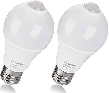 2er Pack: zanflare QP6012SA LED Glühbirne mit Bewegungserkennung für 8,49€   Prime