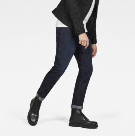 G Star Raw 3301   blaue Herren Deconstructed Tapered Jeans für je 54,95€ (statt 67€)