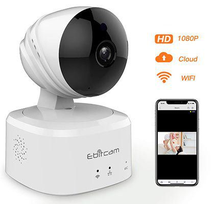 Ebitcam E2 1080p IP Cam mit Bewegungserkennung, Nachtsicht & mehr für 29,99€ (statt 50€)