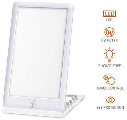Zanflare Tageslichtlampe mit 3 Helligkeitsmodi & Touchcontrol für 18,29€ (statt 30€)