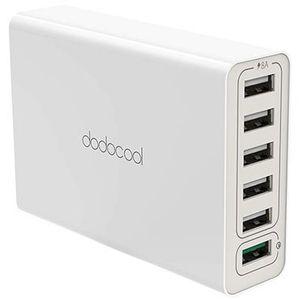 dodocool 58W 6 Port USB Ladegerät mit Quick Charge 3.0 für 12,99€   Prime