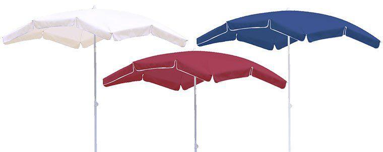 Eckiger Sonnenschirm (2 x 1,55m) in 6 Farben für je 18,89€ (statt 27€)