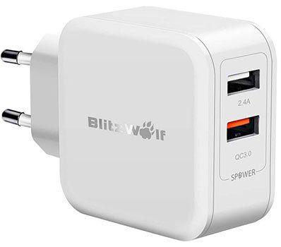 Blitzwolf BW S6   30W 2 Port USB Ladegerät mit QuickCharge 3.0 für 10,39€   Prime