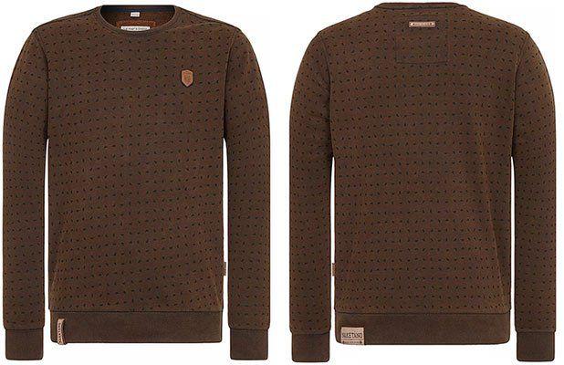 Naketano Sweatshirt Selbstbefriedigungsjustiz in Braun für 23,02€ (statt 43€)