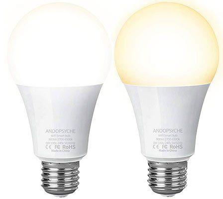2erPack: WLAN 9W LED Glühbirne mit App Anbindung & Alexa/Google Support für 17€   Prime
