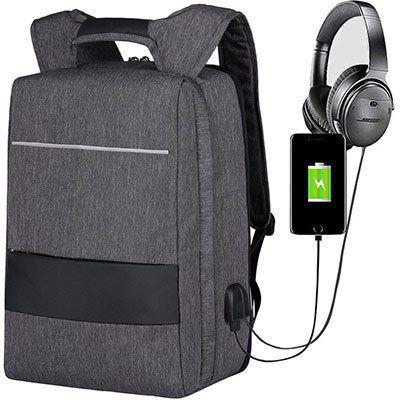 Mbuynow Laptoprucksack (30L) für 17 Zoll inkl. USB Anschluss & Diebstahlschutz für 9,99€ (statt 20€)