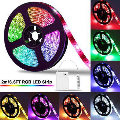 2M LED Streifen 5050 RGB mit Controller für 8,24€   Prime