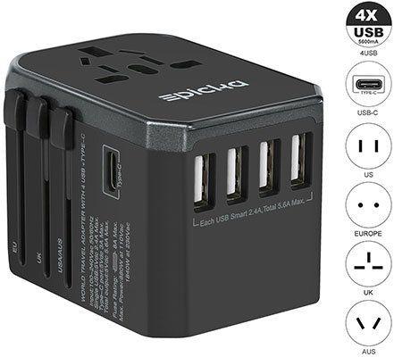 EPICKA Reiseadapter mit 4x USB & 1 Typ C Slot ab 13,79€ (statt 23€)