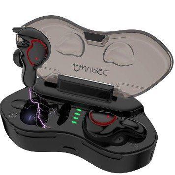 ANVASK Bluetooth Kopfhörer IPX5 Wasserdicht mit Mikrofon und tragbarer Ladebox für 32,19€ (statt 46€)