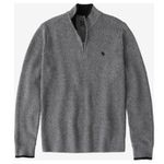 Abercrombie & Fitch Grobstrick-Pullover in Grau für 38,21€