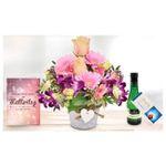 Muttertag! Blumen-Arrangement im Herztopf mit Lindt Schokolade, Piccolo und Grußkarte nur 16,94€