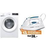 Gorenje WE843P Waschmaschine 8kg + BOSCH Dampfbügeleisen nur 277€(statt 377€)