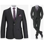 Bruno Banani Herren Anzug 4-teilig (mit Krawatte und Einstecktuch) für 109,34 (statt 141€)
