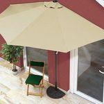 EASYmaxx Sonnenschirm 230 x 140 rechteckig für 49,99€ (statt 76€) – oder 270 x 140 halbrund