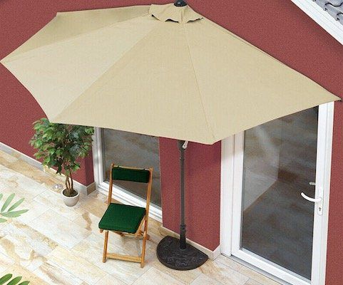 EASYmaxx Sonnenschirm 230 x 140 rechteckig für 49,99€ (statt 76€)   oder 270 x 140 halbrund