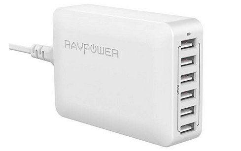 RAVPower USB Ladegerät RP PC028 6 Port 60W für 16,98€ (statt 22€)   bei Prime keine VSK