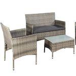 ArtLife Polyrattan Sitzgruppe (Bank, 2 Stühle, Tisch) ab 118,96€ (statt 160€)