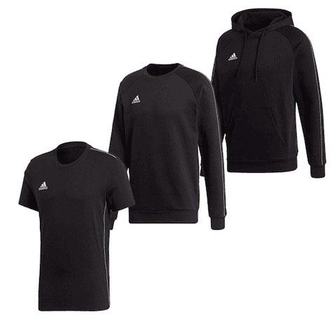 adidas Core 18 Freizeit Set (Hoody, Sweater, Shirt) für 49,95€ (statt 63€)