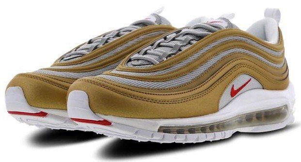 Nike Air Max 97 Herren Sneaker (Metallic Gold University / Ale Brown) für 97,49€ (statt 129€)