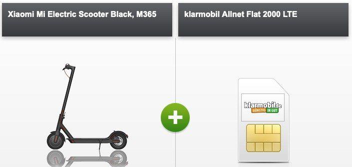 Xiaomi Mi Electric Scooter M365 für 4,95€ mit Allnet Flat im D Netz mit 2GB LTE für 19,99€