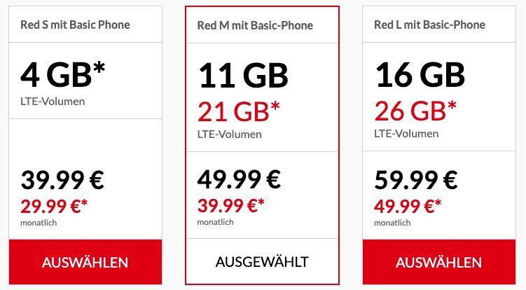 Vodafone Red M dank GigaKombi mit 21GB LTE für 39,99€ mtl. + Smartphone (z.B. Galaxy S10 nur 79€) + gratis Wireless In Ear (Wert 85€)
