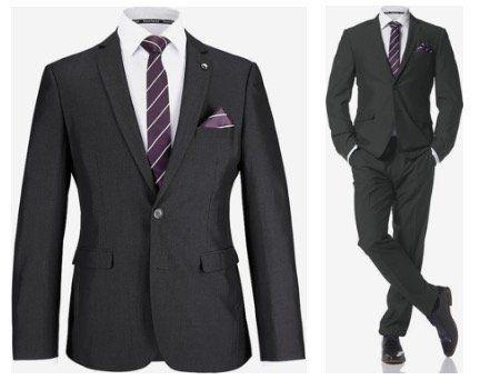 Bruno Banani Herren Anzug 4 teilig (mit Krawatte und Einstecktuch) für 111,77 (statt 137€)