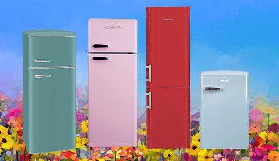Bunte Kühlschränke und Kombis bei Saturn   z.B. Exquisit Kühlgefrierkombi in Taubenblau für 329€(statt 419€)