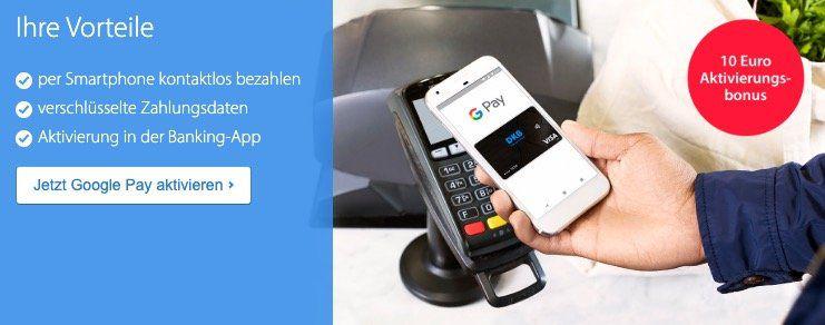 DKB Kunden: 10€ Girokonto Guthaben bei Hinterlegung der DKB Visa in Google Pay