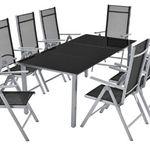 ArtLife Aluminium Essgruppe (8 Stühle + Tisch) für 279,95€