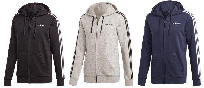 adidas Kapuzenjacke Essentials 3S FZ diverse Farben und Größen für 35,92€ (statt 49€)