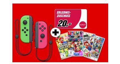 Nintendo Switch Joy Con 2er Set + 1 Spiel für 99€ (statt 118€)   dazu 20€ Mydays Gutschein